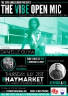 THE VIBE OPEN MIC SERIES 7/21 FEATURING DANIELLE OLIVIA, LIVE BAND KEYVOKO & CO. & MORE!